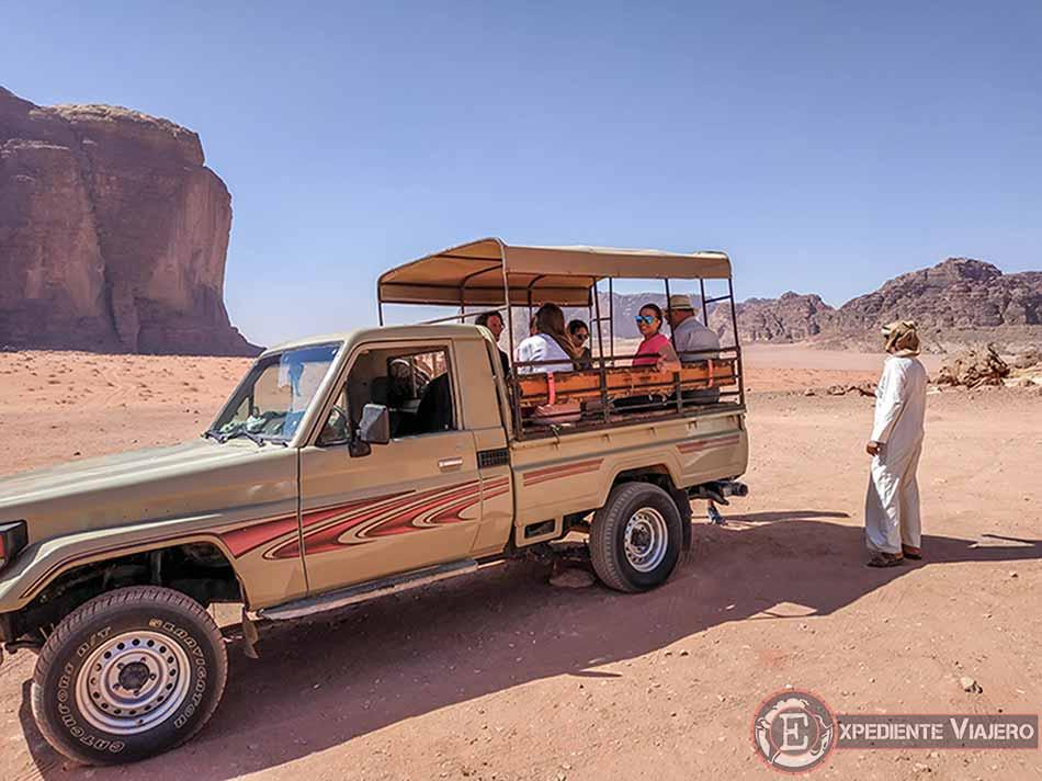 Qué hacer en el desierto de Wadi Rum: El jeep para hacer el tour