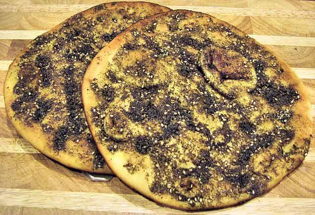 Qué comer en Jordania: Manakish con Za'atar