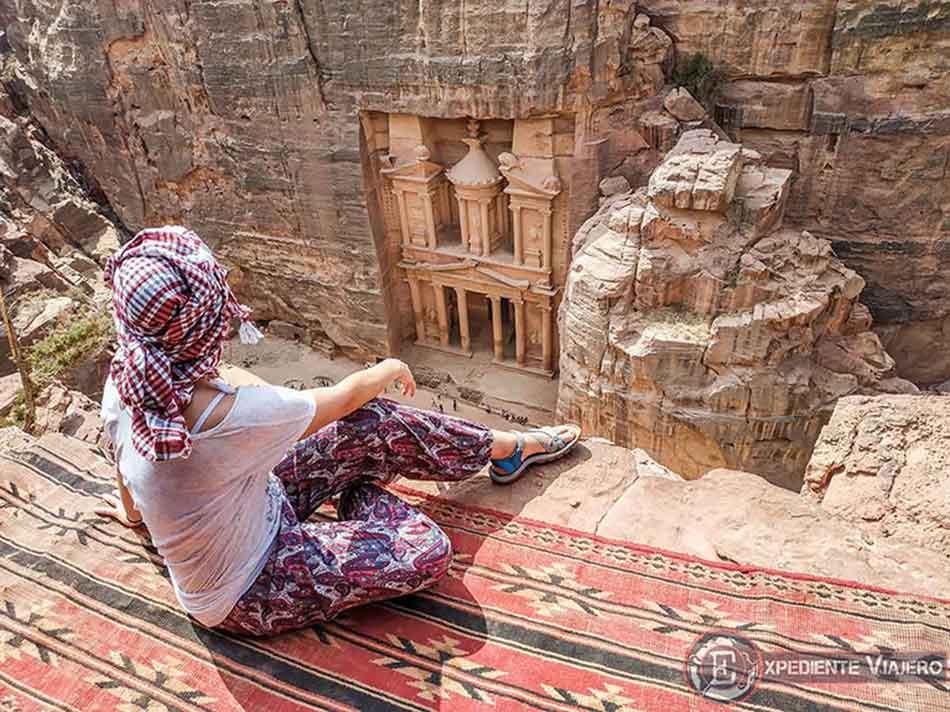 Mejor mirador del Tesoro de Petra