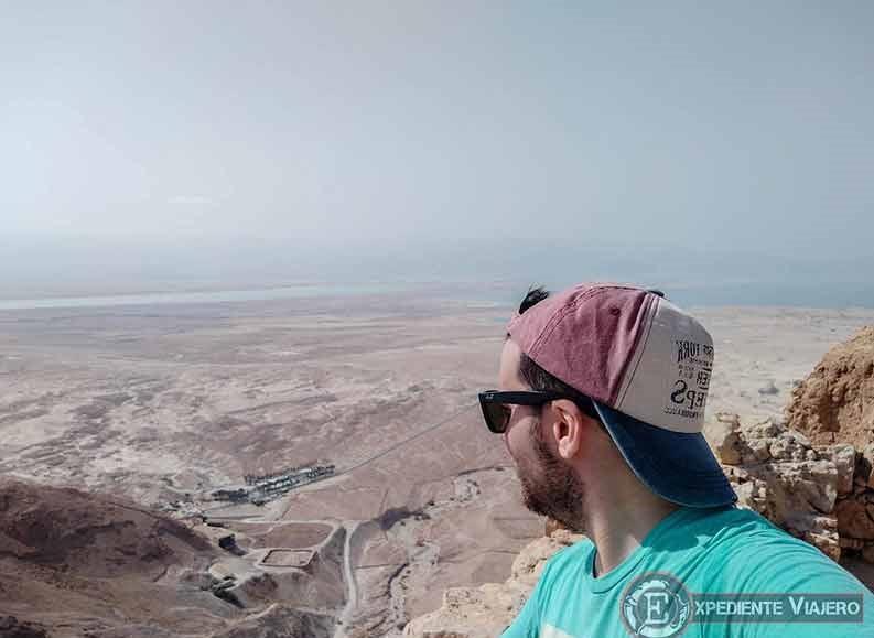 Mirador Este al visitar la fortaleza de Masada en Israel