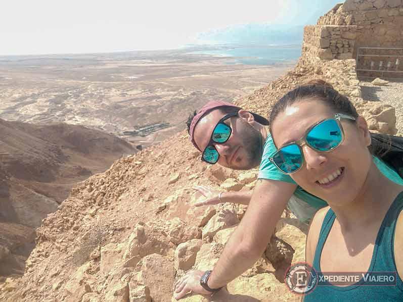 Mirador Sur al visitar la fortaleza de Masada en Israel