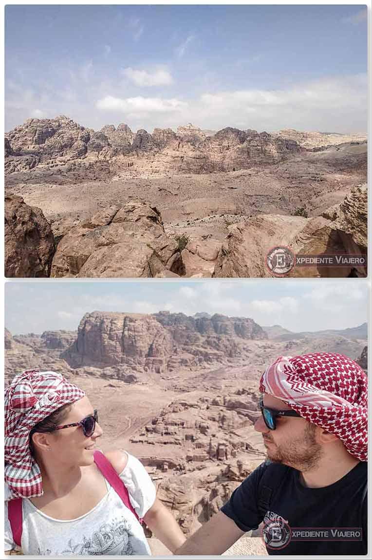 El paisaje marciano de Petra de camino al mejor mirador del Tesoro