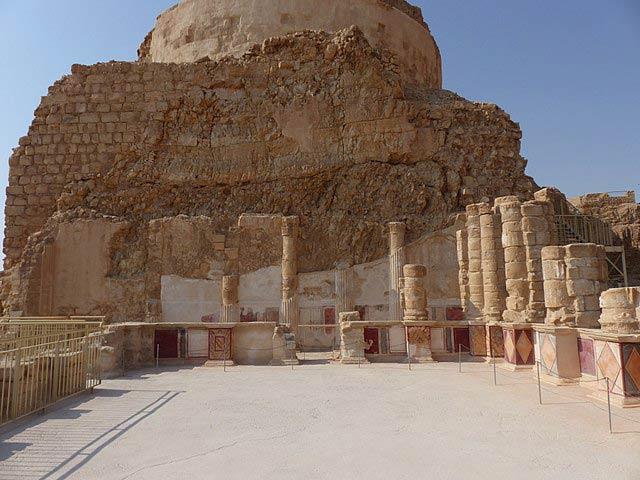 Palacio Norte al visitar la fortaleza de Masada en Israel