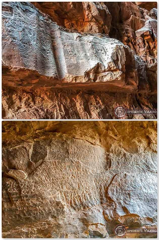 Qué hacer en el desierto de Wadi Rum: Petroglifos de Khazali Canyon