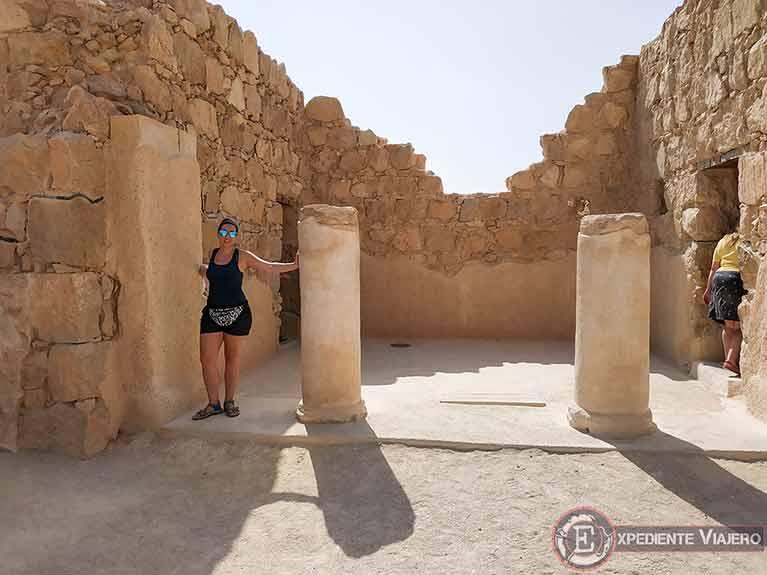 Residencia del Comandante al visitar Masada en Israel