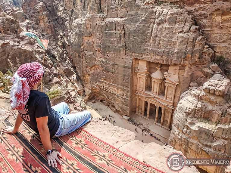 El Tesoro de Petra desde el mejor mirador