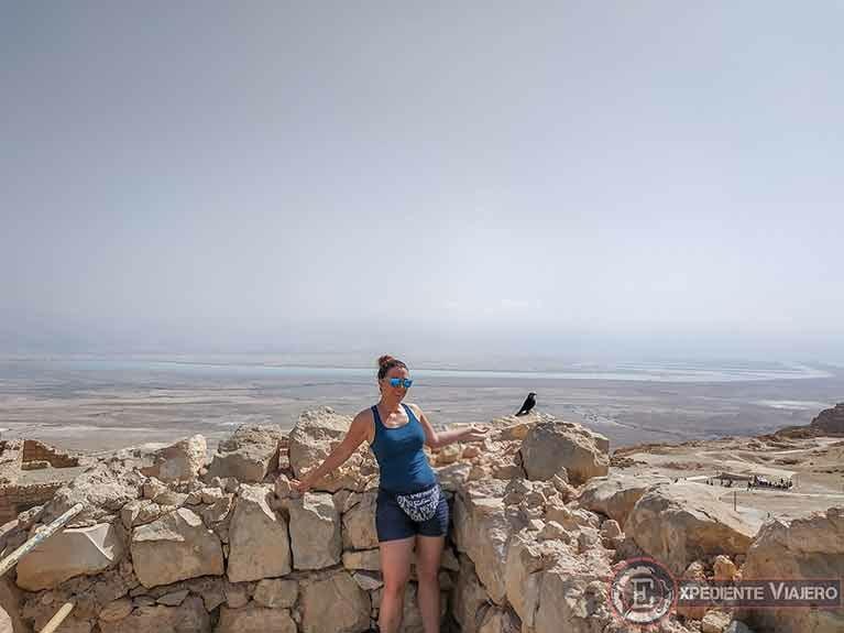 Torre de Guardia al visitar la fortaleza de Masada en Israel