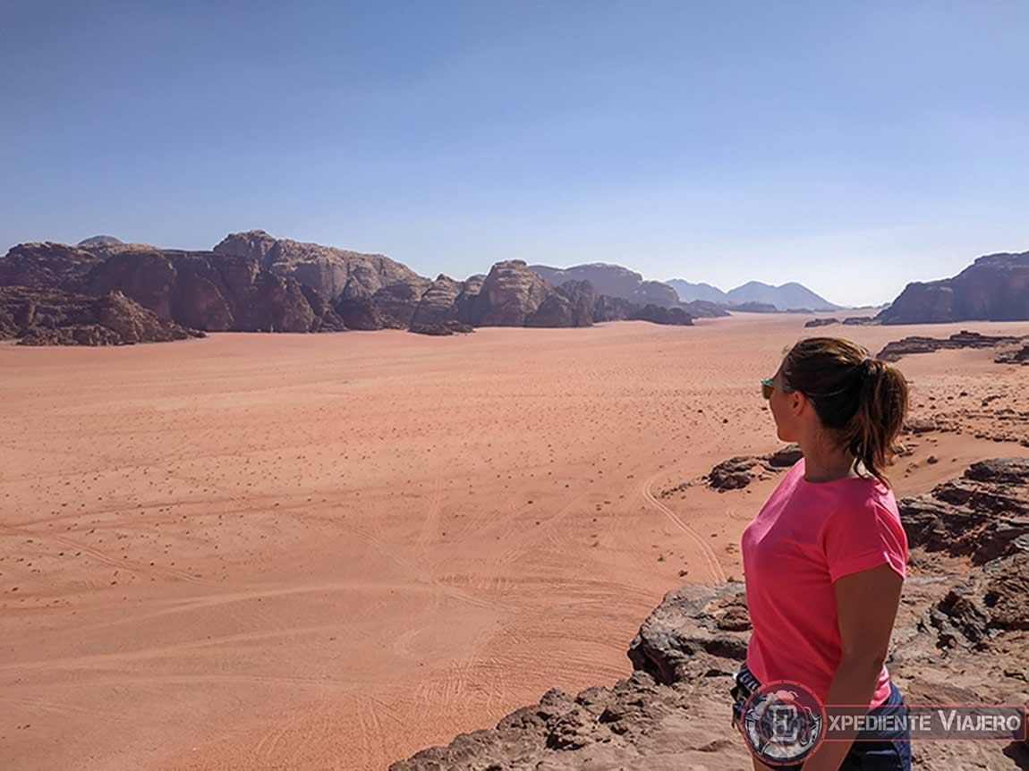Vistas marcianas del Wadi Rum