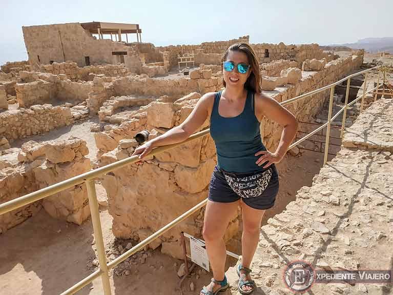 Vistas del Palacio Oeste desde la Torre del Curtidor de Masada