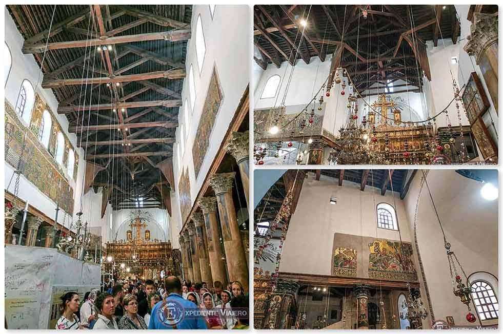 Qué ver en Belén (Palestina): Interior de la Iglesia de la Natividad