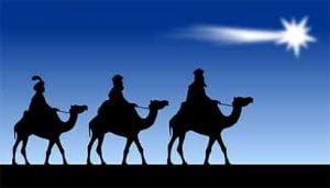 Reyes Magos camino a Belén