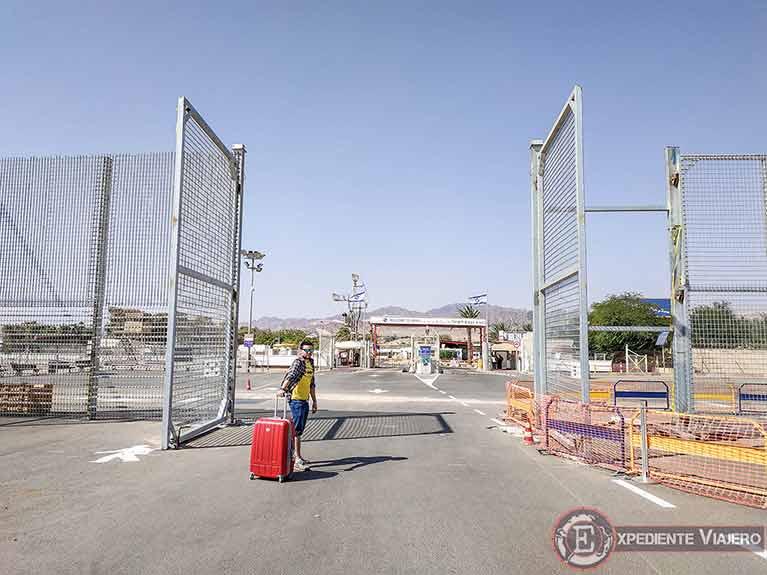 Presupuesto para viajar a Jordania por libre: Tasa de salida por tierra