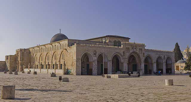 Mezquita Al-Aqsa en la Explanada de las Mezquitas de Jerusalén