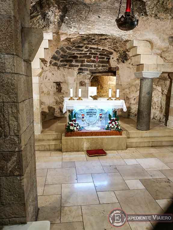 Altar de la Gruta de la Anunciación