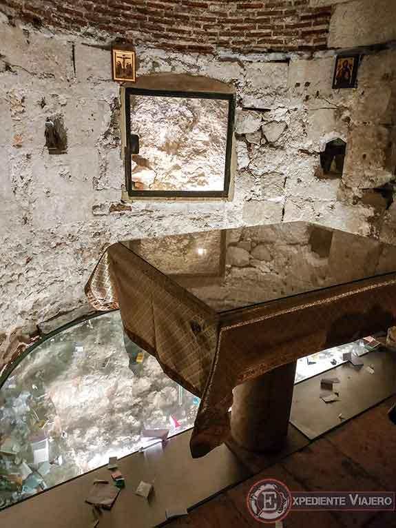 La Capilla de Adán en el Santo Sepulcro de Jerusalén
