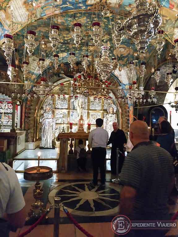 Capilla de la Crucifixión en el Santo Sepulcro