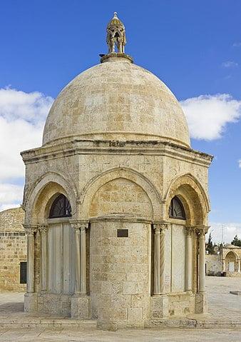 Cúpula de la Ascensión en la Explanada de las Mezquitas de Jerusalén