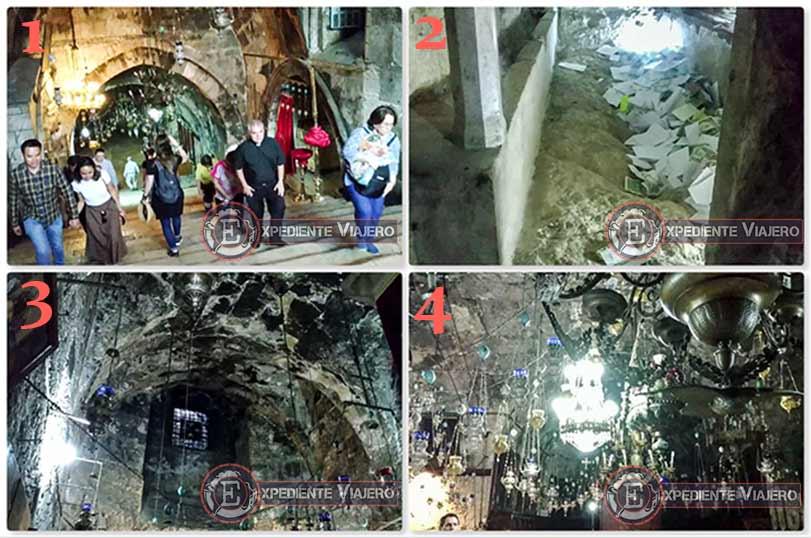 Interior de la tumba de María
