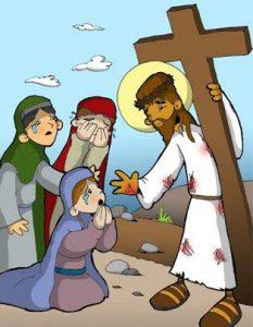 Vía Dolorosa: Jesús se encuentra con las mujeres