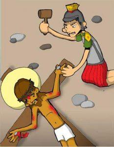 Vía Dolorosa: Jesús es clavado en la cruz