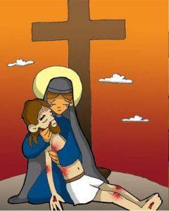 Vía Dolorosa: Jesús es bajado de la cruz