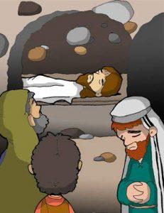 Vía Dolorosa: Jesús es introducido en el sepulcro