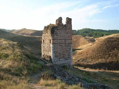 Restos del Castillo árabe de Alcalá la Vieja en Alcalá de Henares