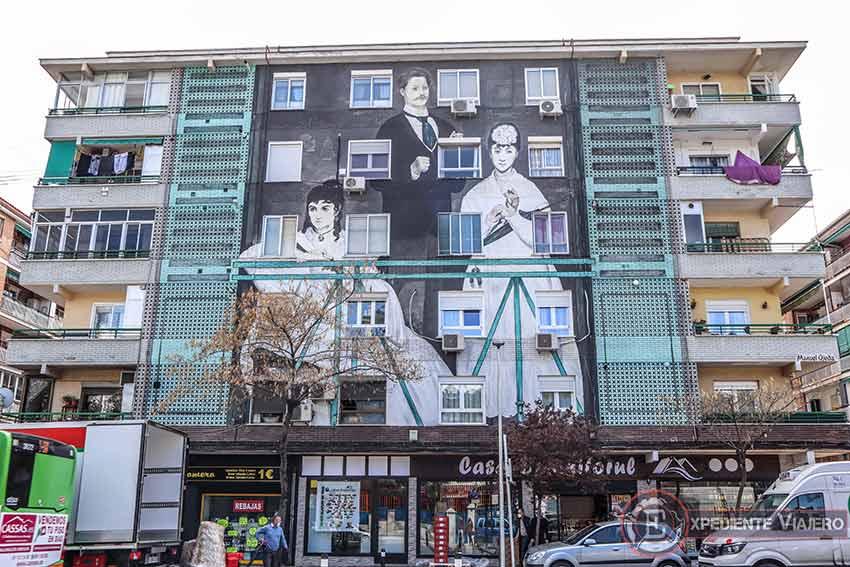 Grafitis en Torrejón:¨El balcón¨de Edouard Manet