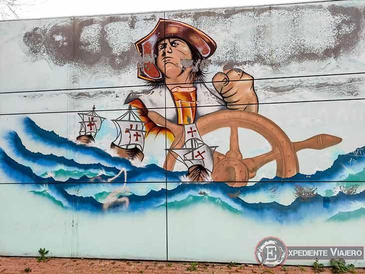 Mejores grafitis de Torrejón: Caseta descubrimiento de América