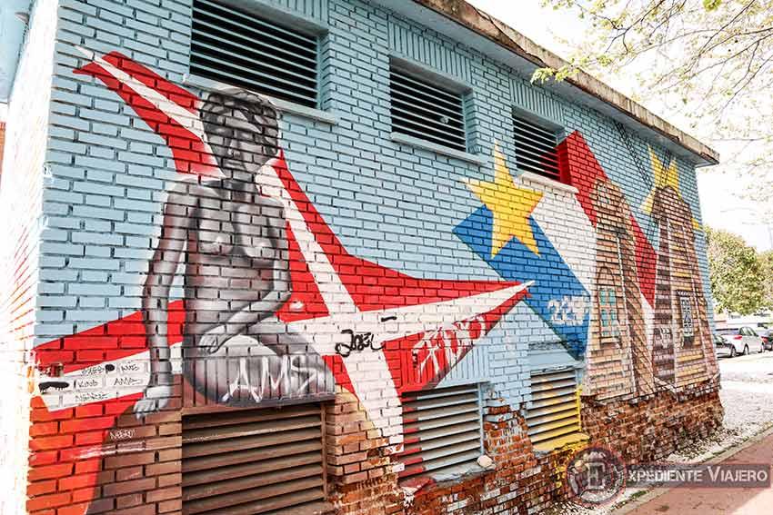 Mejores grafitis de Torrejón: Caseta de luz del Parque Europa