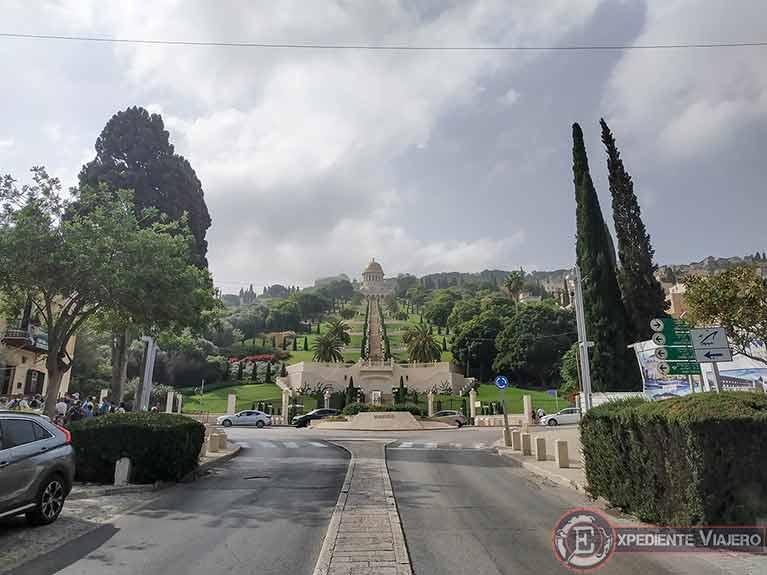 Cómo visitar los jardines de Haifa desde la Plaza de la Colonia Alemana