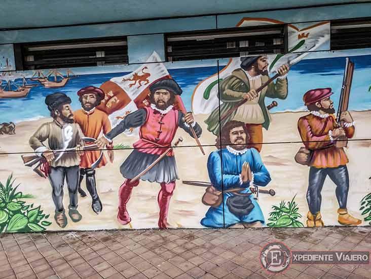 Arte urbano de Colón en Torrejón