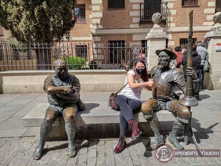 Ruta de un día por Alcalá de Henares: Casa de Cervantes y figura de Quijote y Sancho