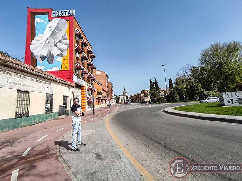 Grafiti de Cervantes en Alcalá de Henares