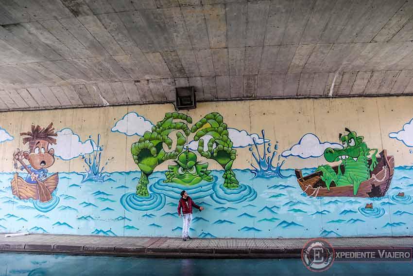 Grafitis monstruo Torrejón de Ardoz