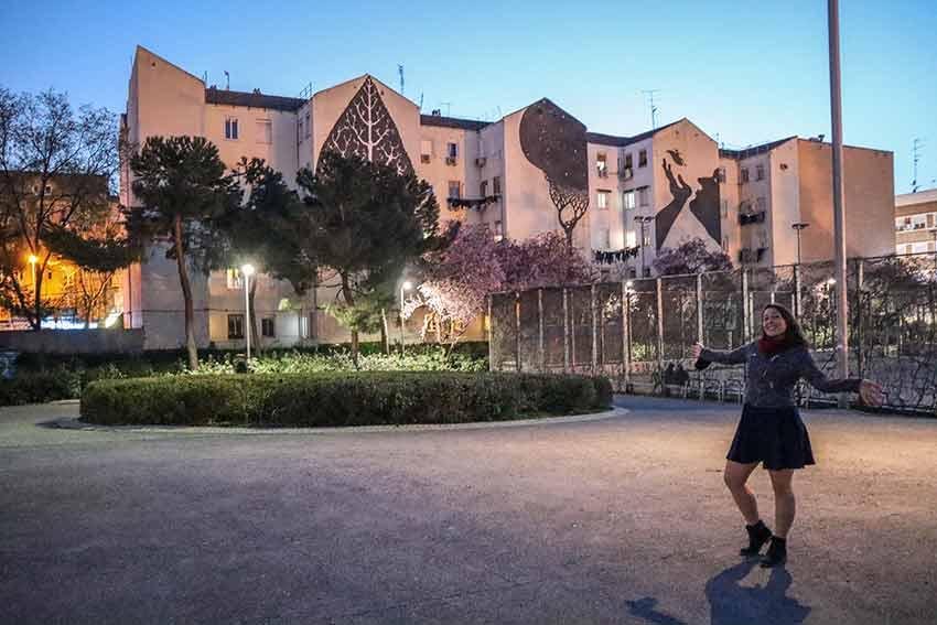 Descubre los murales de arte urbano en Madrid centro y alrededores: Las Hojas Humanizadas