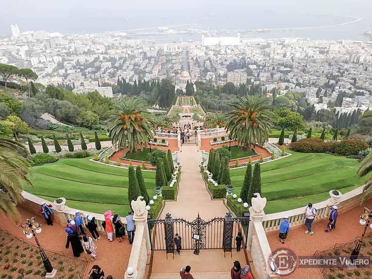 El mejor mirador de los jardines de Haifa