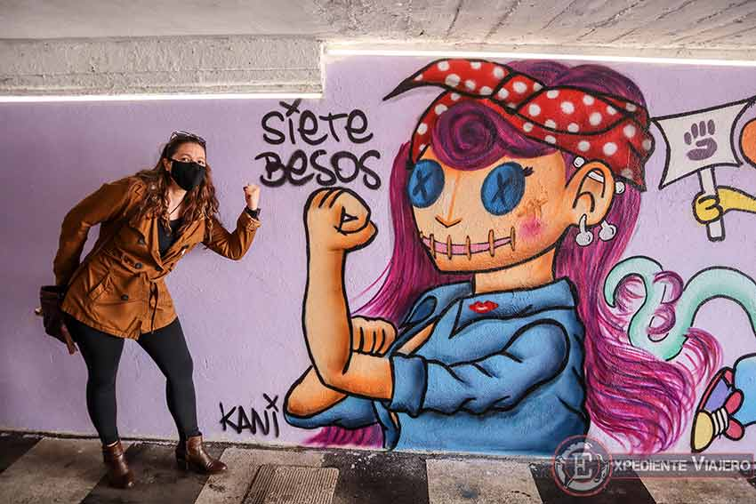Grafitis como homenaje a las mujeres en Torrejón
