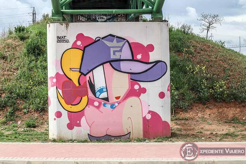 Rapera en un grafiti de Torrejón