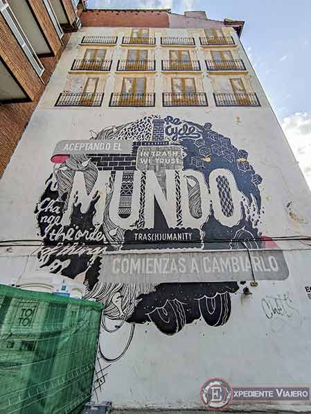 Descubre los murales de arte urbano en Madrid centro y alrededores: Mundo de Boa Mistura
