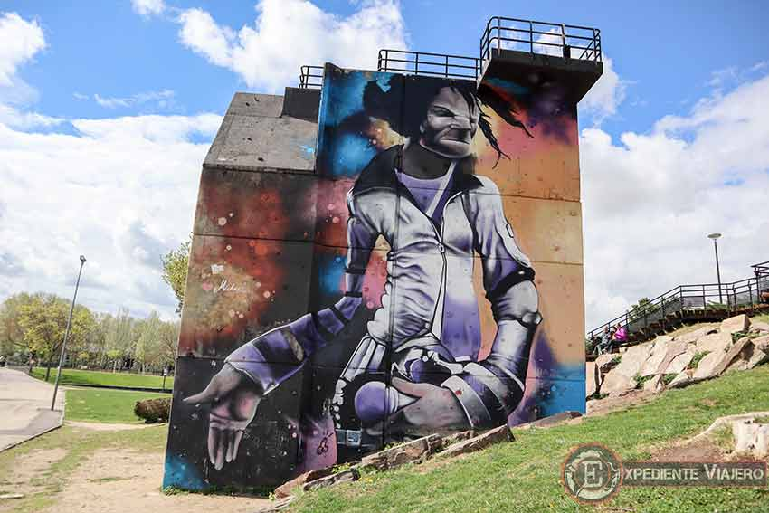 Mejores grafitis de Torrejón: Michael Jackson