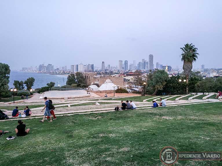 Parque Abrasha para ver Tel Aviv al visitar Jaffa