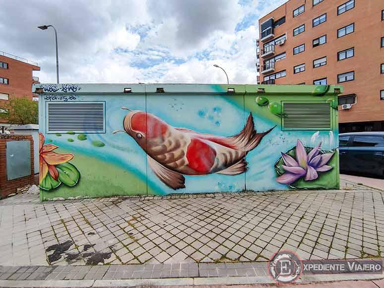 Mejores grafitis de Torrejón: Caseta de Peces Orientales
