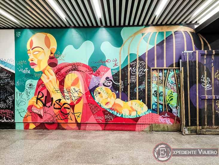 Descubre los murales de arte urbano en Madrid centro y alrededores: Plaza de los Cubos
