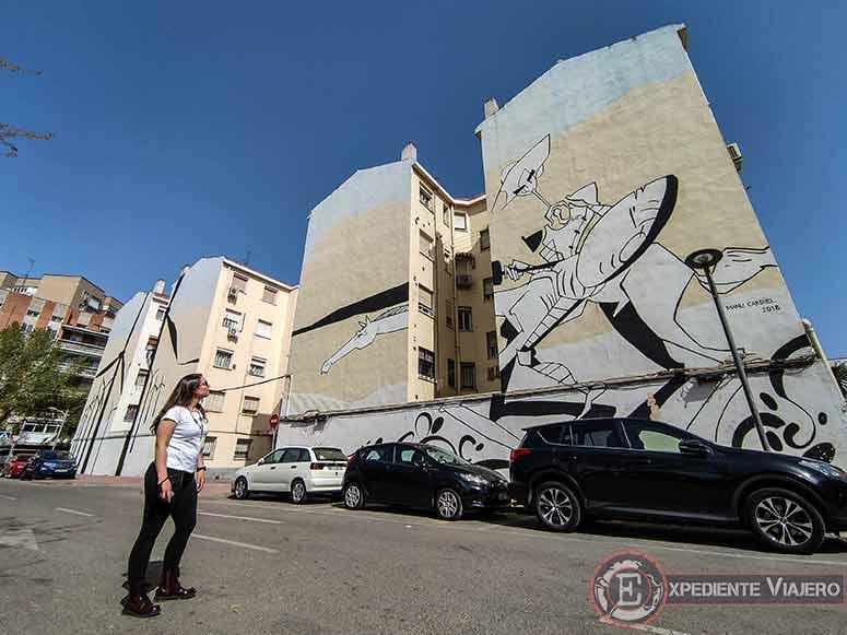 El Quijote en las fachadas de Alcalá de Henares: El mural más grande del Quijote