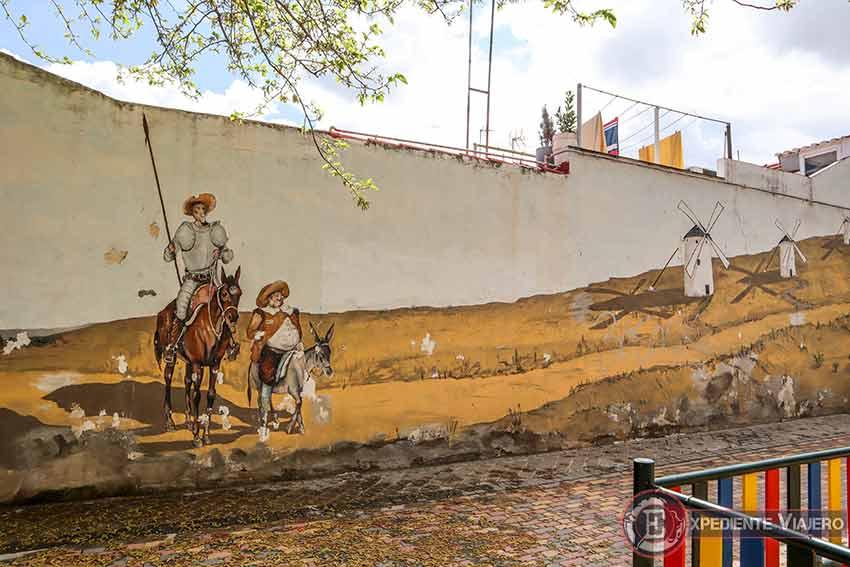 Mejores grafitis de Torrejón: El Quijote y Sancho