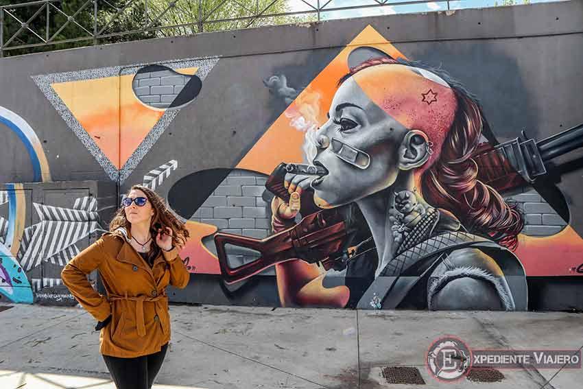 Uno de los mejores grafitis de Torrejón en el Recinto Ferial