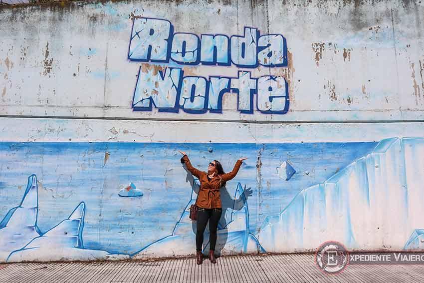 Grafiti de Polo Norte de la Ronda Norte de Torrejón de Ardoz