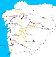 Mapa de la calzada romana XIX