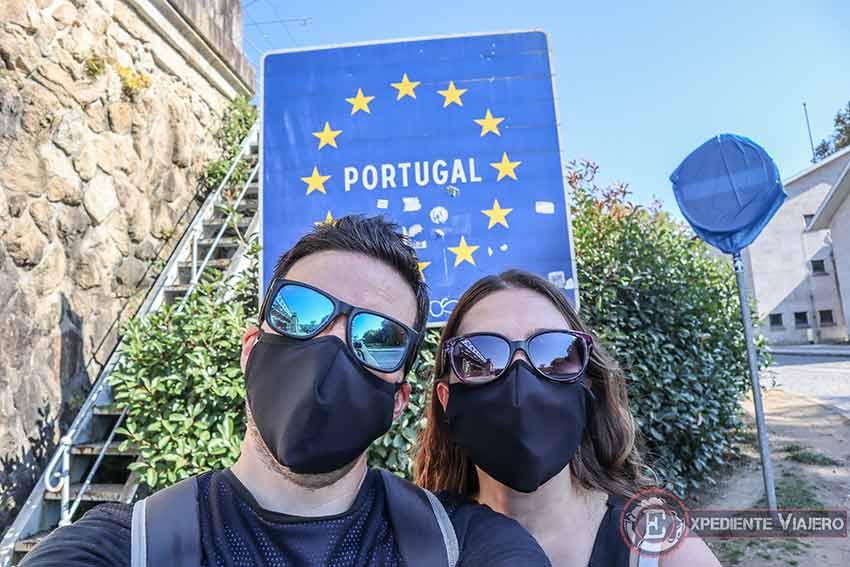 Cruzar el Puente de Tui para llegar a Portugal